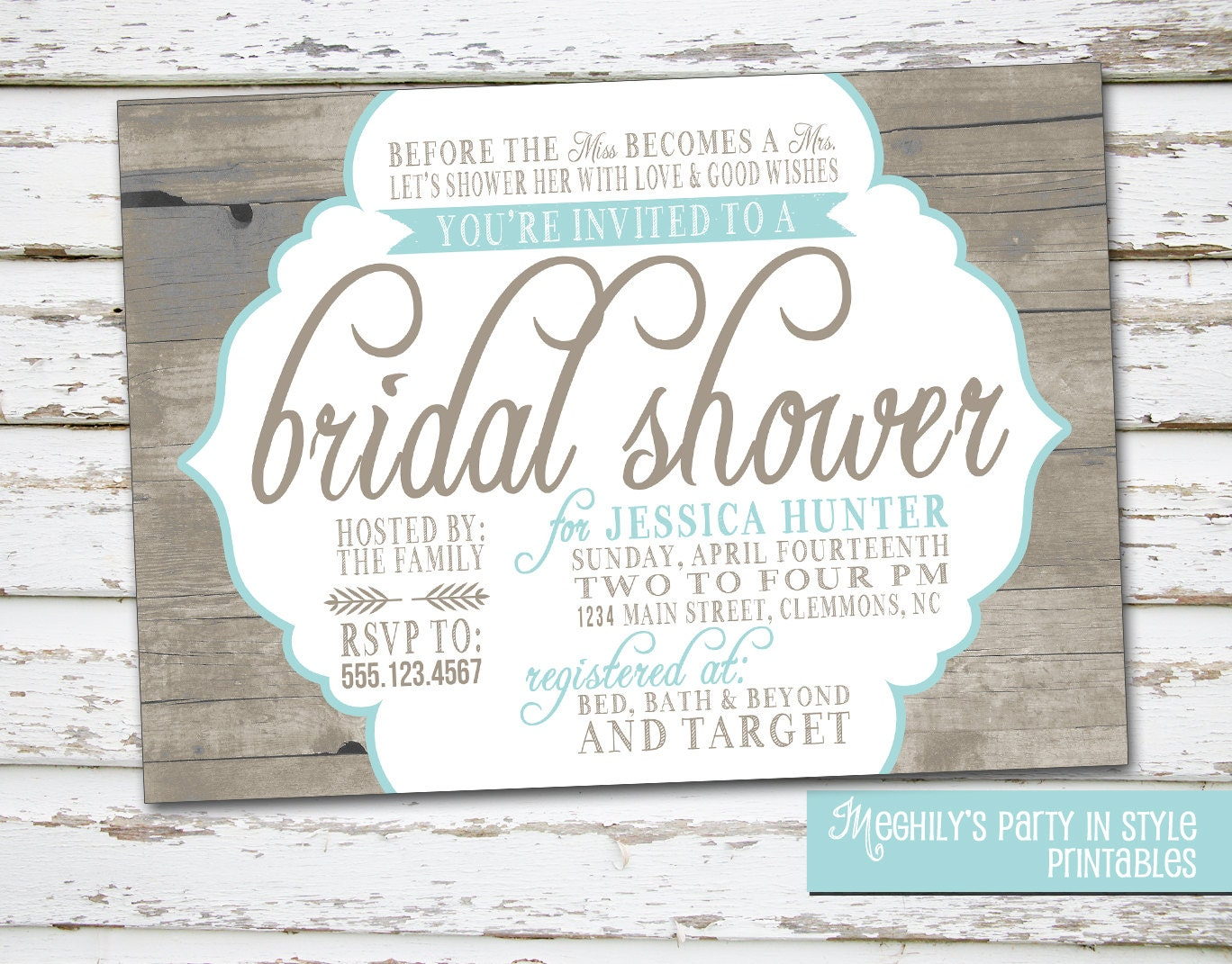 Wedding Invitations Country Theme: Country / Rustic Theme Bridal Shower Invitation