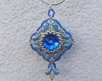 Baroque Pendant   (Intermediate Level E-tutorial/Pattern) Uses the new Zoliduo beads.