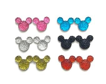 Mickey Earrings Disney Inspired Mickey and Minnie Earrings