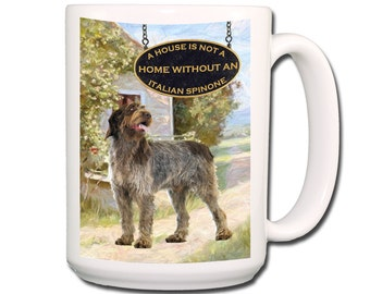 Italian Spinone a House is Not a Home 15 oz Large Coffee Mug No 2