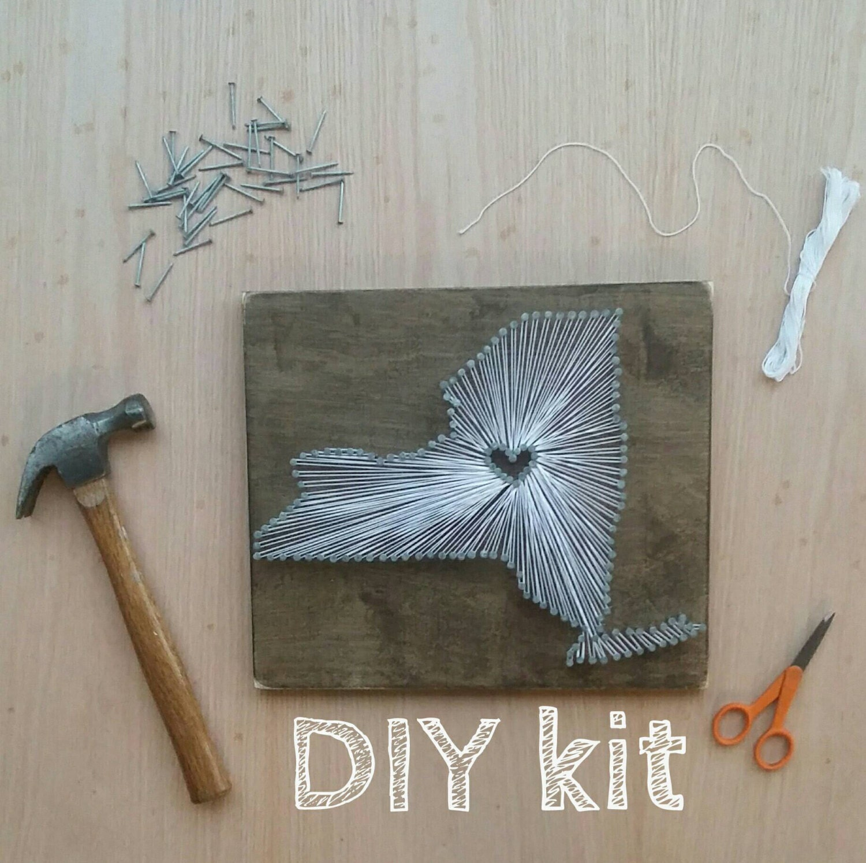 DIY New York String Art Kit, State string Art Kit, New York Nail Art ...