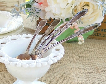 Vintage Rogers Spoons Choice of 1, Vintage Silverplate, French Country, Shabby Chic, Farmhouse Decor, Destash, Repurpose, Wedding Decor