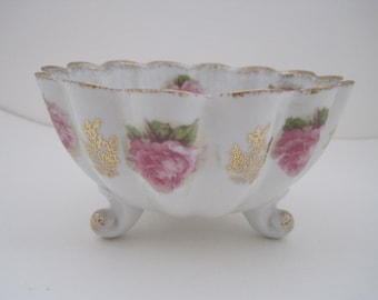 Footed Flower Bowl