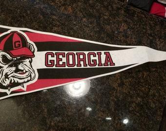 Vintage Georgia Bulldogs Pennant