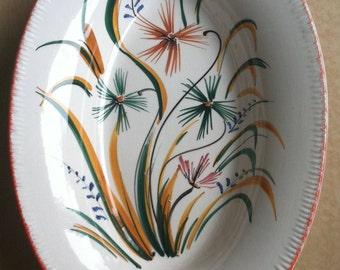 Bergamo Akron Hand Painted Serving Platter