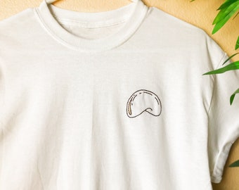Fortune Cookie Hand Embroidered Shirt