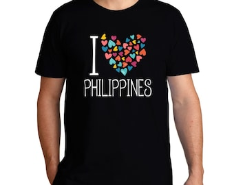 I Love Philippines Colorful Hearts T-Shirt