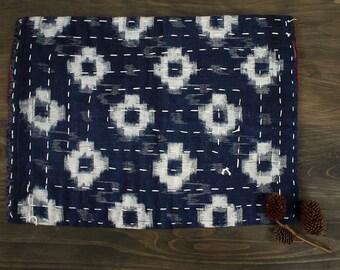 Japanese Zoukin, Zokin, floor cloth, vintage fabric, cotton, Sashiko, Kasuri, Indigo, Boro