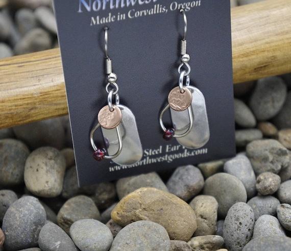 3 piece dangle earrings surgical steel ear wires