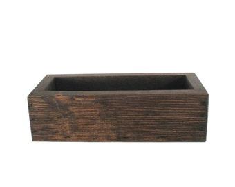 Wood Succulent Planter Box Centerpiece - Home Decor