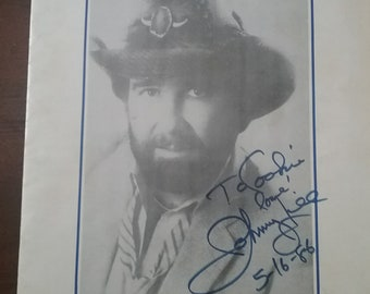 Vintage Johnny Lee in Antoch Signed By  Johnny Lee Dated  May 16, 1986