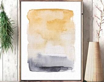 Natural Color Abstract Art, Rustic Wall Decor, Wall Art, Abstract Art, Art Prints, Minimal, Watercolor Art, Rustic Decor, Digital Download