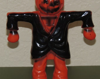 1950s Hard Plastic Halloween Candy Container