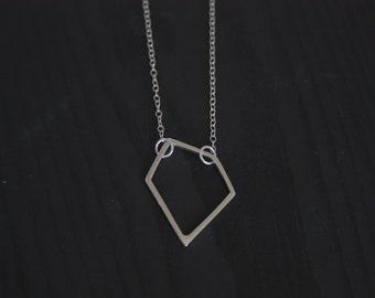 Medium Sterling Silver Geometric Pendant