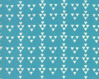 Desert Bloom Delta Turquoise fabric by Sherri and Chelsi of A Quilting Life for Moda Fabric #37524-19