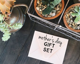 Mother's Day Gift Set - Notecard, Print, Custom Stationery Cards
