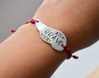 Brave - Wax Polyester Cord Adjustable Bracelet