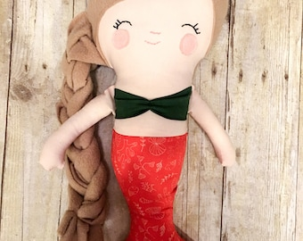 Mermaid plush doll, mermaid doll, mermaid, mermaids, mermaid rag doll, mermaid gift, birthday gift, plush doll, mermaid toy, rag doll