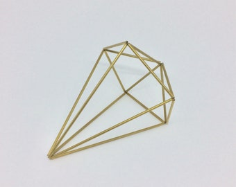 Gem Brass Himmeli - Large