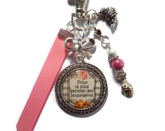 """Jewel of bag-door-key/Baker / """"for the nicest of the bakers"""" / gift"""