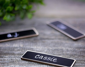 Magnetic Name Tags, 6 Chalkboard Name Tags, As seen on GOOGLE employees in NY, Japan, & France, Reusable Name Badge