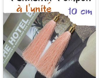 Silk thread tassel pendant individually salmon gold 10 cm