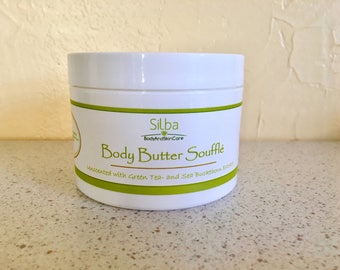 Unscented - Body Butter - Souffle - Moisturizer - Natural Lotion - Body Cream - Skincare - Extract 4oz
