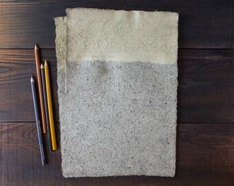 Papel hecho a mano hojas - A4 - decorativas papel - encaje - con textura de papel - arte de papel - respetuoso del medio ambiente - papel de la escritura - carta Paper(#29la)