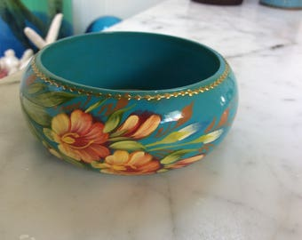 Russian Hand Painted Bangle Bracelet