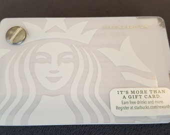 Starbucks Upcycled Refillable Giftcard Notebook - 2015 Special Edition Mermaid Siren White