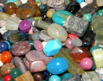 NEW 6/oz PREMIUM 6-20mm RANDOM pick of Natural Stones, Semi Precious, Gemstones, Loose lot of Beads