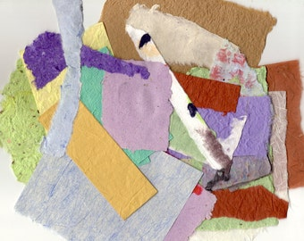 Handmade Paper Scrap Pack - 3 Ounces Collage Pack for Scrapbooking, DIY Greeting Cards, ATCs, ACEOs, Paper Arts, Tags and MORE PSS 2674