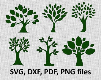 Tree svg - Tree vector - Tree clipart - Tree bundle - Tree digital clipart for Design or more,file download svg, png, dxf, pdf