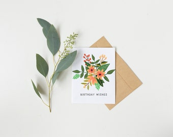 Birthday Wishes Summer Floral Card