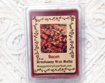 Wax Melts, Bacon, Bacon scented candle melts, breakfast scents, MoeggenborgSugarBush, candle melts