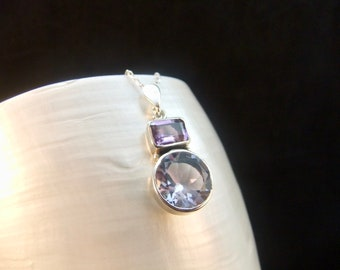 Alexandrite & Amethyst Sterling Silver Necklace