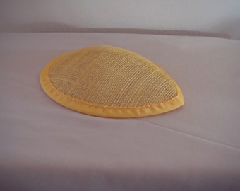 Yellow Mini Teardrop Hat for Costumes (H-6)