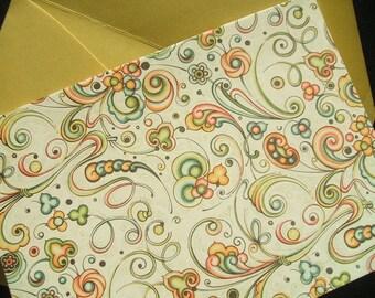 Rossi Note Cards - Bertini Swirls -  (Set of 10)