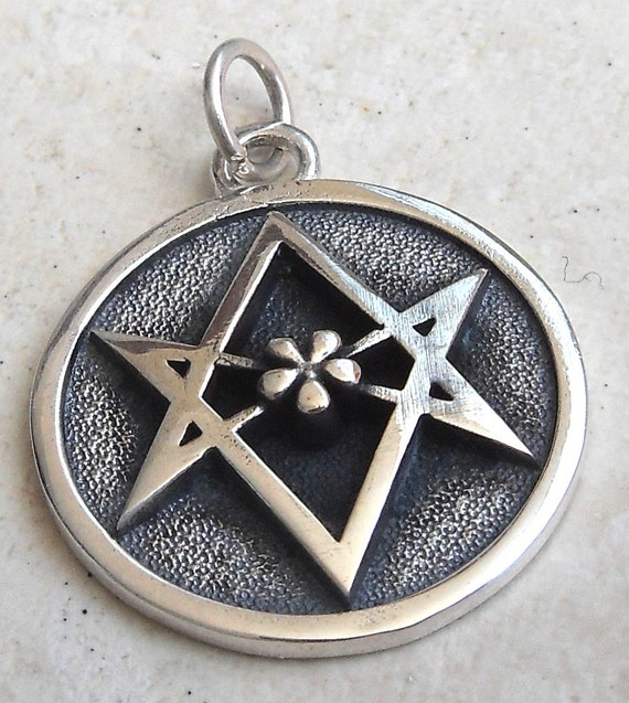 3d unicursal hexagram pendant solid sterling silver 925 mozeypictures Images