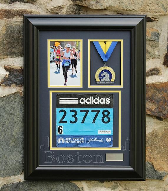 Boston Marathon Medal Display Frame Satin Black