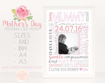 Mother's Day DIGITAL Gift, First Mother's Day, Mother's Print, Mum prints