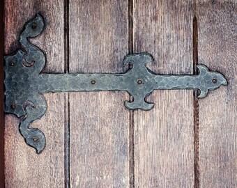 Rustic Foyer Art, Vintage Door Photograph, Entryway Decor, Rustic Wall Art, Brown Wall Decor, Door Print, Country Cottage Art, Canvas Art