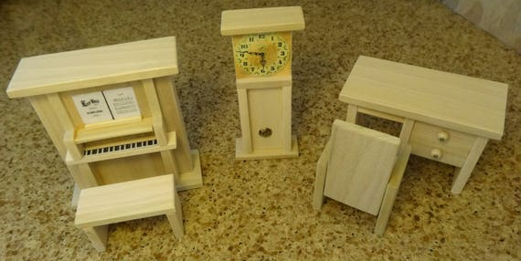 Den etc wooden dollhouse furniture hand crafted