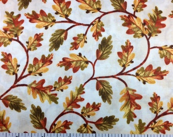 Timeless Treasures HARVEST (CREAM Color) - 100% Cotton Premium Fabric - sold by 1/2 yard