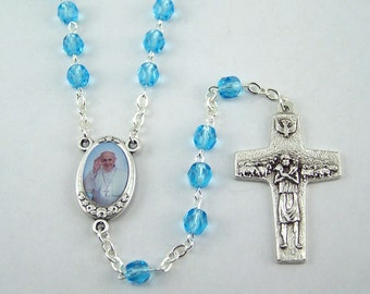 Light Blue Pope Francis Rosary
