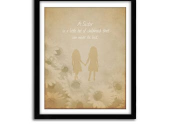 Christmas Gift For Sister, Gift From Sister, Poem for Sister, Birthday Gift For Friend, Best Friend Poem Gift Art Print Custom