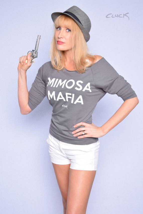MIMOSA MAFIA Women's Terry Raw-Edge 3/4-Sleeve Raglan T-Shirt - Made with Love in Tulsa by Steve Cluck - 20% off with the coupon code MIMOSA