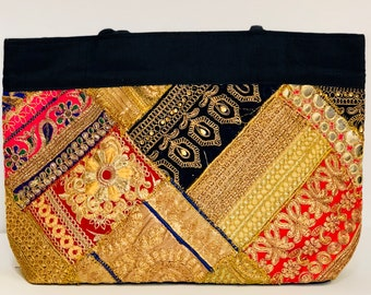 Multicolor embroidered Purse With Zari and Patchwork