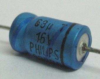 Electrolytic vintage capacitor 68uF 16V