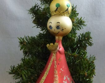 Vintage Italian Blown Glass Ornament Rescued King HO721